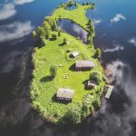Photographer Captures Stunning Overhead Shots of an Island in Finland During All Four Seasons