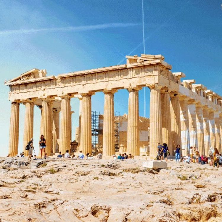 parthenon Legendary Ancient Ruins Visually Reconstructed to Their Former Magnificent Glory Random