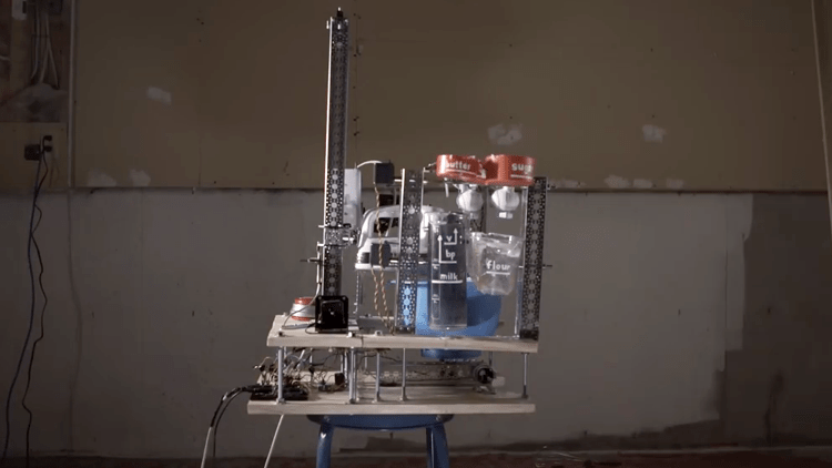 persistent-man-learns-the-basics-of-robotics-and-builds-a-cake-baking-robot Persistent Man Learns the Basics of Robotics to Build a Cake Baking Robot Random