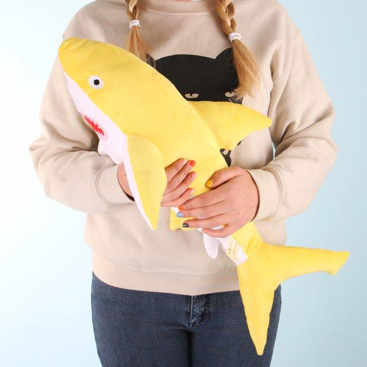 yellow-shark Soft Huggable Brightly Colored Shark Plushies Random