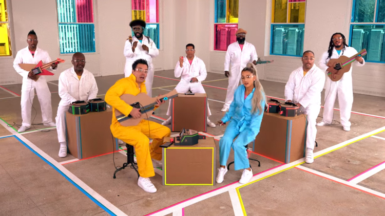 ariana-grande-performs-no-tears-left-to-cry-with-nintendo-labo-instruments-on-the-tonight-show Ariana Grande Performs 'No Tears Left to Cry' With Nintendo Labo Instruments on The Tonight Show Random