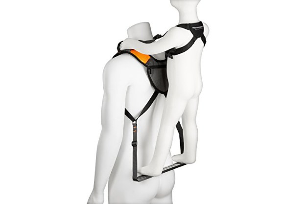 piggyback-rider-4 Piggyback Rider, A Standing Child Carrier System Featuring a Foot Bar and Safety Handles Random