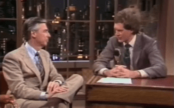 In 1999 Mister Rogers Reunited Onstage With Man In Wheelchair Who Was On A 1981 Episode As A Child