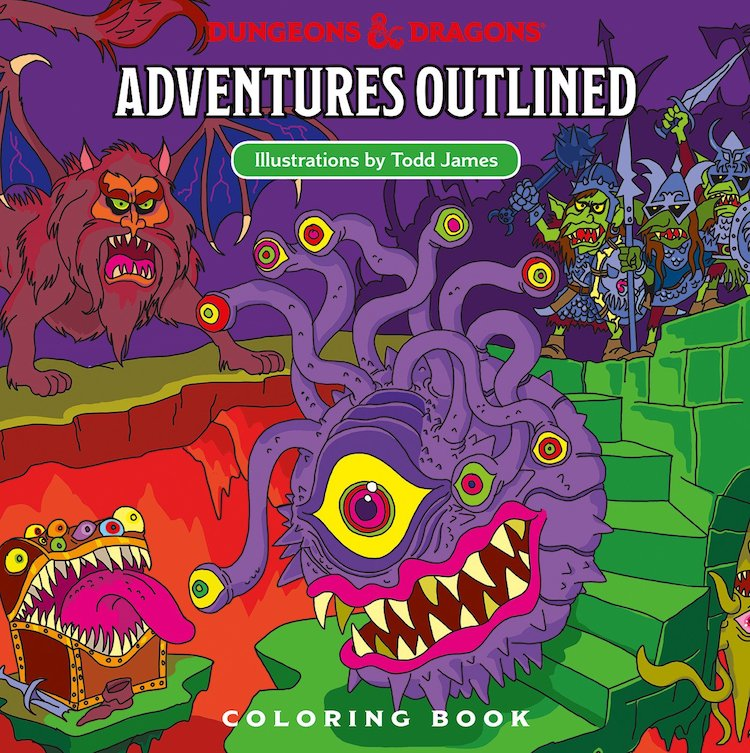 Dungeons-Dragons-Adventures-Outlined Dungeons & Dragons Coloring Book Random