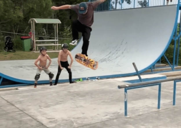 Impossible-Skateboard-Flip An Incredibly Cool 'Impossible' Skateboard Flip Random