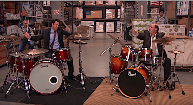 Steve-Moore-Mad-Drummer-on-The-Office 'The Mad Drummer' Who Was at the Wrong Gig Decimates Kevin in a Drum Battle on 'The Office' Random