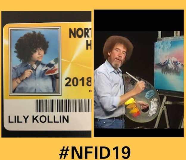 Bob-Ross-High-School-ID-Photo Michigan High School Encourages Seniors to Dress Up as Their Favorite Characters For School ID Photos Random