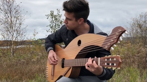 Jamie-Dupuis Gorgeous Acoustic Versions of Classic Rock Songs Performed on a Beautiful Harp Guitar Random