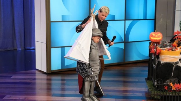 The-Ellen-Show-Fortnight Ellen Puts Some Very Funny (and Punny) Finishing Touches on Kids' Halloween Costumes Random