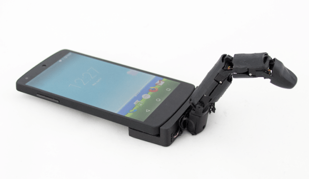device Mobilimb, An Attachable Articulating Robotic Finger That Greatly Enhances Mobile Device Capabilities Random
