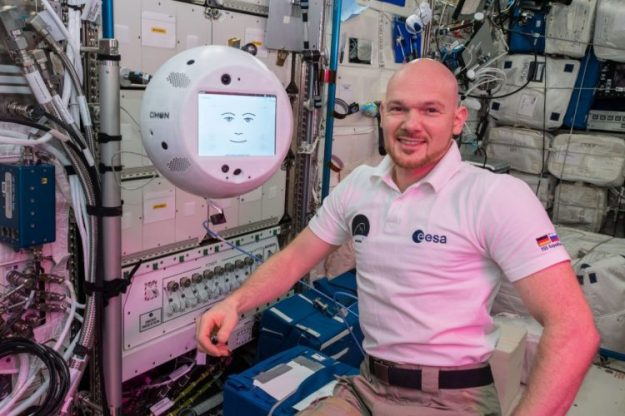 Alexander-Gerst-and-CIMON-ISS-e1543792761169 CIMON the 3D Printed Voice Activated Assistant Aboard the ISS Plays Kraftwerk for Astronaut Alexander Gerst Random
