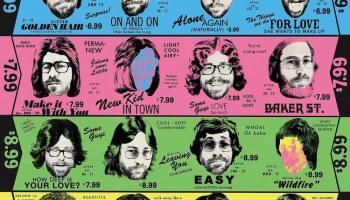 Square Vinyl Album Cover Prints Featuring Pictogram
