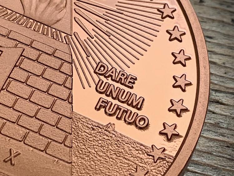 Zero Fucks Coins Dare Unum Futuo