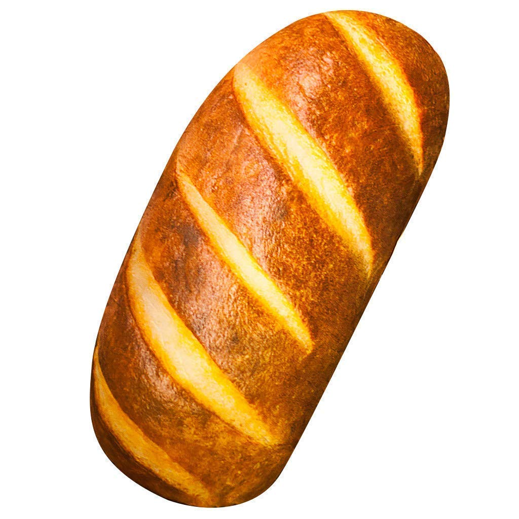 a fresh baked french bread plush pillow