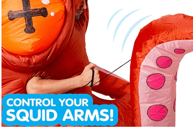 Deluxe Inflatable Squid Costume Arms