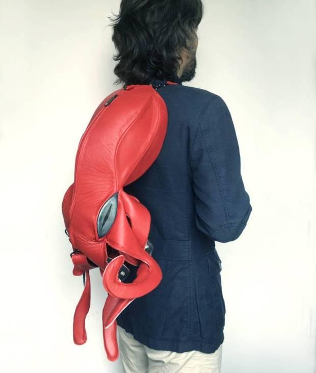 Octopus Bag Model Worn