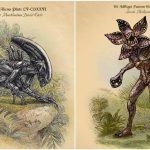 Fictional Creatures From Movies, Television, and Literature Illustrated as Vintage Scientific Field Studies