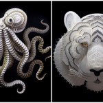 Exquisitely Detailed Cut Paper Animal Sculptures