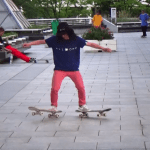 Japanese Freestyle Skateboarding Prodigy Performs Impressive Tricks Using Two Skateboards at Once