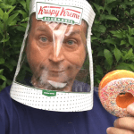 How to Make a Face Shield Using the Top of a Krispy Kreme Doughnuts Box