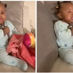 Comedian Provides Amusing Narration to Video of Friend's Baby Girl as She Struggles to Stay Awake