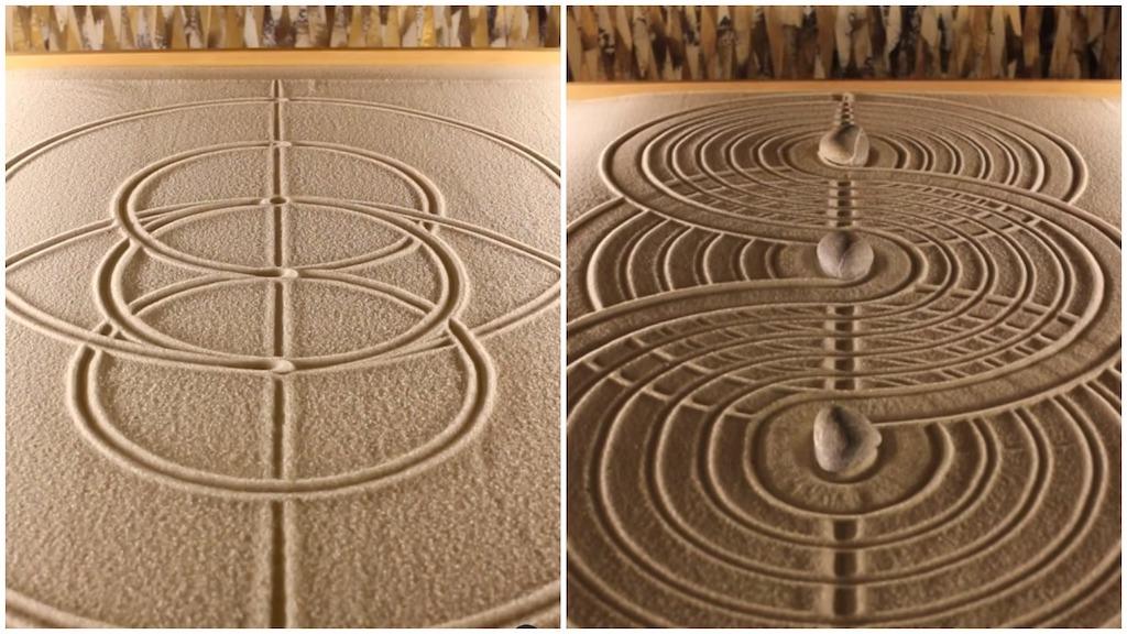 Mesmerizing Geometric Zen Garden Sand Designs