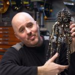 Metal Artist Builds a Fully Articulating Octopus Sculpture Out of a Mystery Box of Bicycle Chains
