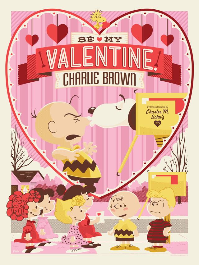 Be My Valentine Charlie Brown Illustration By Jayson Weidel
