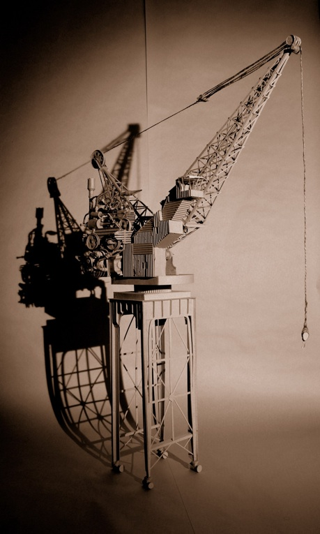 Intricate cardboard sculptures by Daniel Agdag