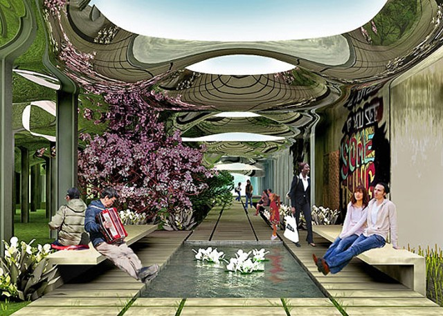 The Delancey Street Subway Low Line Park