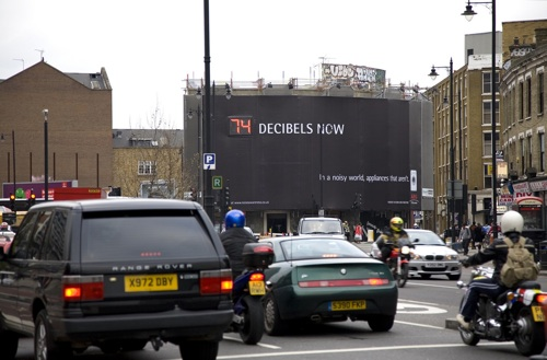 AEG street noise billboard