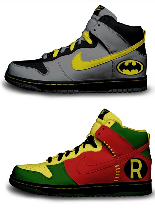 Batman & Robin Custom Nike Sneakers