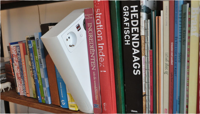 Plugbook, A Powerstrip Disguised As A Book