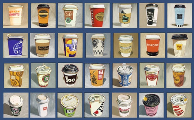 Take-Out Coffee Cup Oil Paintings