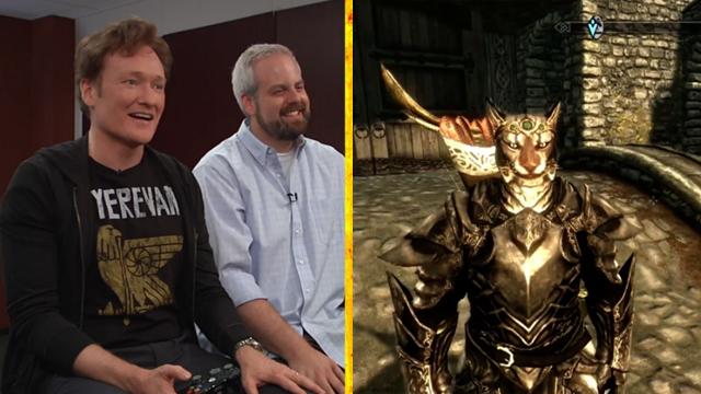 """Clueless Gamer: Conan O'Brien Reviews """"Skyrim"""""""