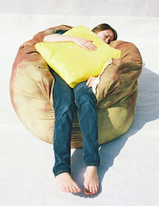 baked potato bean bag chair topped with