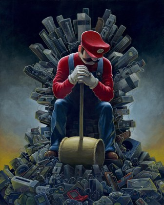 The Old School Video Game Art Show  Level 2 at Gallery1988 Venice Throne of Games by Aaron Jasinski
