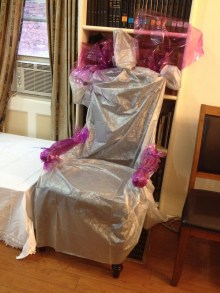 Makeover for the bridal chair