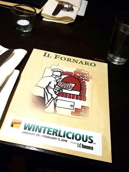 The 2016 Winterlicious Menu.