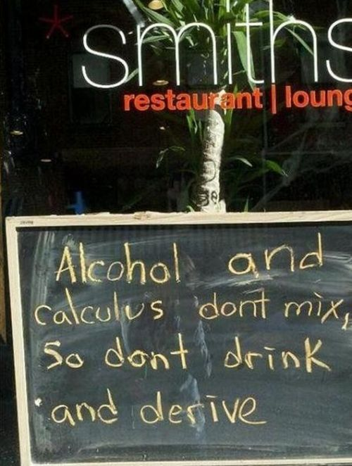 Funny Drinking PSA Sign