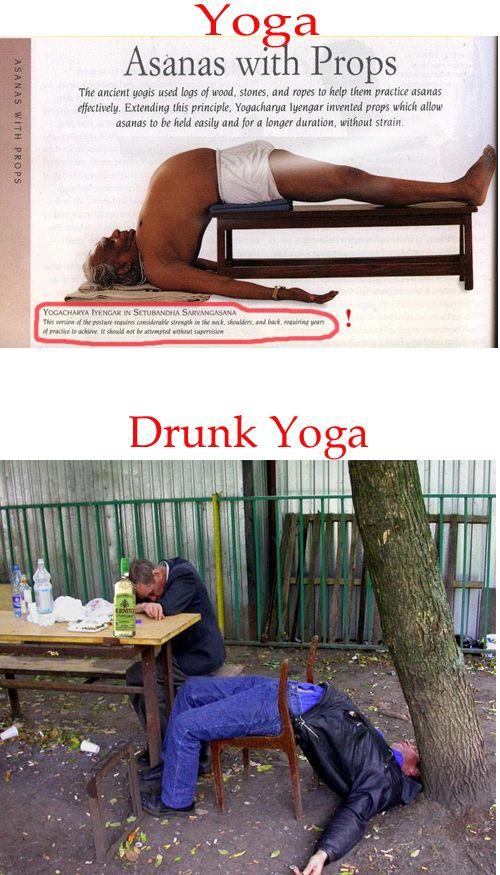 Drunk Yoga