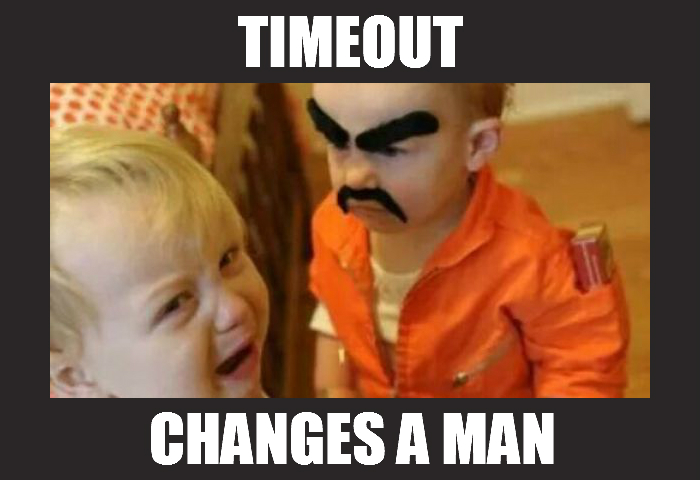 Timeout changes a man