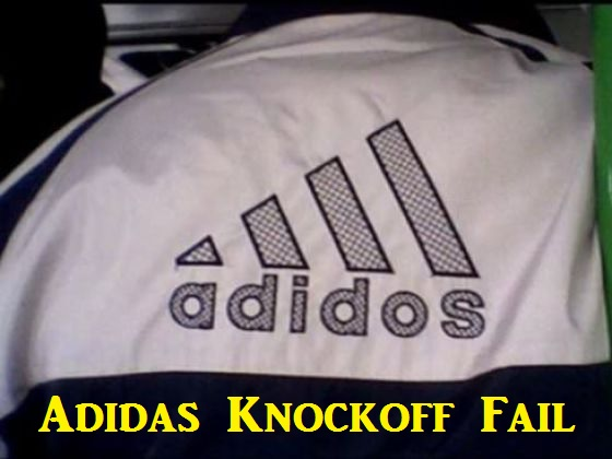 Adidas Knockoff Fail