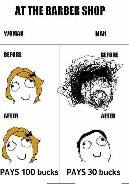 Difference between Girls and Guys haircuts