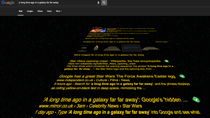 Google Star Wars easter egg