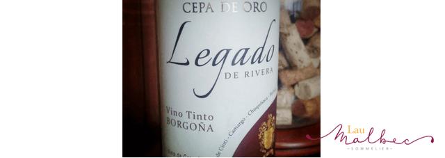Vino boliviano Borgoña Legado de Rivera