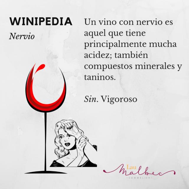 Winipedia qué es un vino con nervio