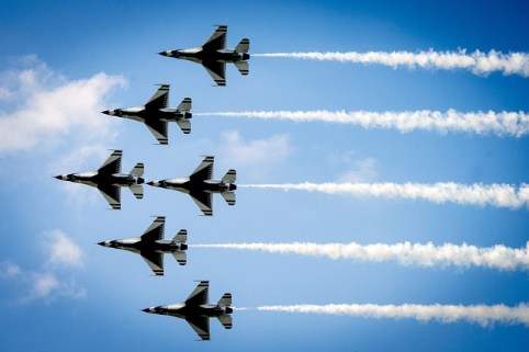 Air Force Thunderbirds Military Formation Air Show