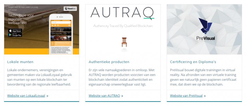voorbeelden Nederlandse blockchain startups