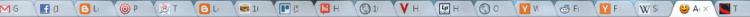 Full Google Chrome tab bar